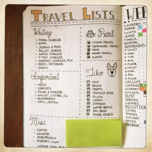Bullet Journal Travel List